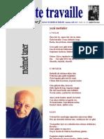 Le Poete Travaille SAYI 11-13 2005