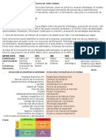 Modelo de Gerencia Estratégica de Fred David
