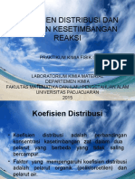 Koefisien Distribusi Dan Tetapan Kesetimbangan Reaksi
