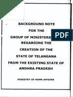 Creation of State of Telangana