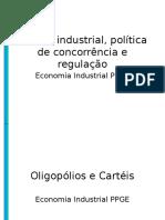 2008_01 ECO IND Cartéis, Política Industrial, Política de Concorrência e Regulação Graduação HH
