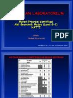 Presentation Pengujian Laboratorium, Sertifikasi G-1 HATTI.pps