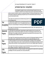 standard 5 - math assessment rubric