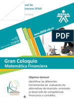 Coloquio Matematica financiera