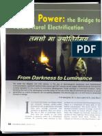 Solar Power for Rural Electrification