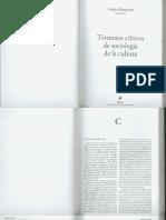 ALTAMIRANO Carlos - Términos críticos de sociología de la cultura