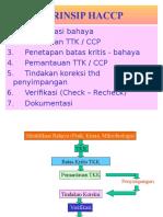 Prinsip HACCP Pangan dan Gizi
