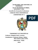 Laboratorio de Electroestática