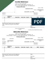 Neelima Medicals Bill