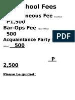School Fees