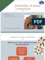 Psicoterapia Familiar, De Pareja y Comunitaria Clase Unidad II