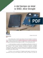 El Paso Del Tiempo Es Letal Para Los SSD