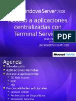 Acceso a aplicaciones centralizadas con Terminal Services.ppt