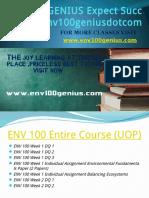 ENV 100 GENIUS Expect Success Env100geniusdotcom