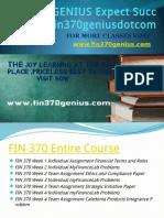 FIN 370 GENIUS Expect Success Fin370geniusdotcom