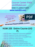 HUM 205 Course Career Path Begins Hum205dotcom