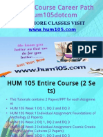 HUM 105 Course Career Path Begins Hum105dotcom