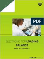 Electronic Top Loading Balance