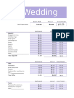 Wedding Budget and Invitation Planner1