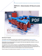 An Overview of IEC 6007610 Determination of Sound Levels of Power Transformers