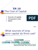 Chap 11 - The Cost of Capital