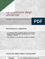 4. La Questione Degli Universali