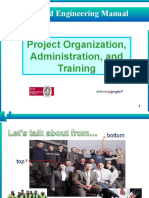 Project Organization, Administration, And Training