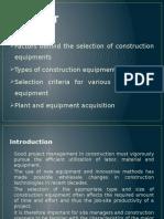 contruction equipment mngnmnt