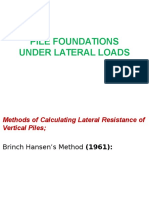 Pile Foundations Under Lateral Loads