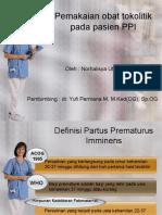 Pemakaian Obat Tokolitik Pada Pasien PPI