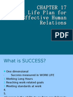 A Life Plan for Effective Human Relations