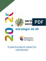 Estrategia 20.20. Servicios Sociales Diputación de Segovia