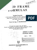 Kleinlogel Rigid Frame Formulas
