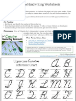 Cursive Handwriting Practice Grids