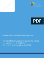 Exploring drug driving legislation in Malta in the context of the European landscape