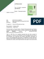 Journal of Ethnopharmacology Volume 184 Issue 2016 [Doi 10.1016_j.jep.2016.03.001] Sudsai, Teeratad; Wattanapiromsakul, Chatchai; Tewtrakul, Supiny -- Wound Healing Property of Isolated Compounds Fr