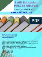 POL 215 AID Education Expert/POL215 AID.com