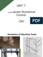 Unit 7 - Cnc - Lecture 1