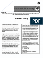Values in Poliocing