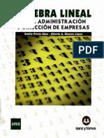 Álgebra Lineal Para Administración y Dirección de Empresas