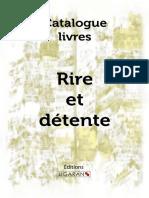 Catalogue Ligaran Livres Rire Detente