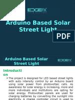 Arduino Based Solar Street Light