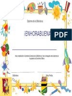 Diploma Gymkana Literaria
