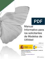 Manual Solic Modelos de Utilidad 2016
