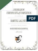 lalonde sam certificate