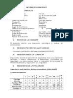 Informe Psicometrico Clinica Caso 3