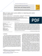 Effects of various power system stabilizers on improving power system dynamic performance