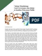 Peran SAKIP Dalam Mendukung Terciptanya Good Governance
