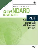 NIJ Standard 0117.01 – Public Safety Bomb Suit Standard (2016)