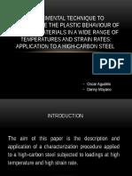 Experimental Technique to Caracterize the Plastic Behaviour (Diapositivas